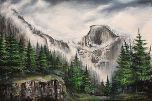 Painting Half Dome Yosemite