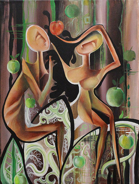 Surrealism Art Adam & Eve