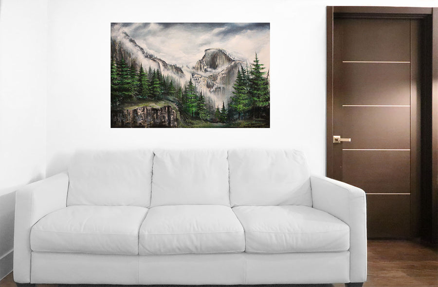 Yosemite Half Dome Painting