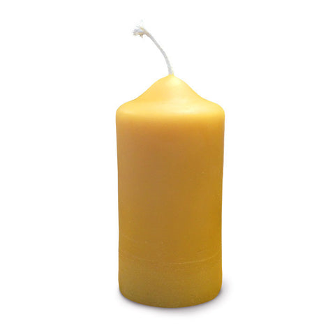 African Bronze pillar candle contains organic beeswax, from Canadian and Zambia bees.