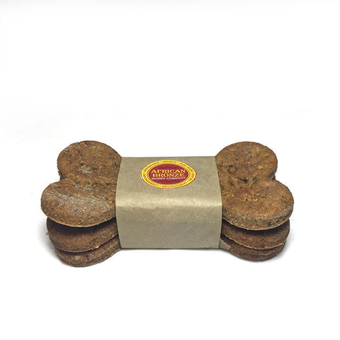 African Bronze Jumbo Honey Dog Bones 3-pack. A delicious treat for your dog!