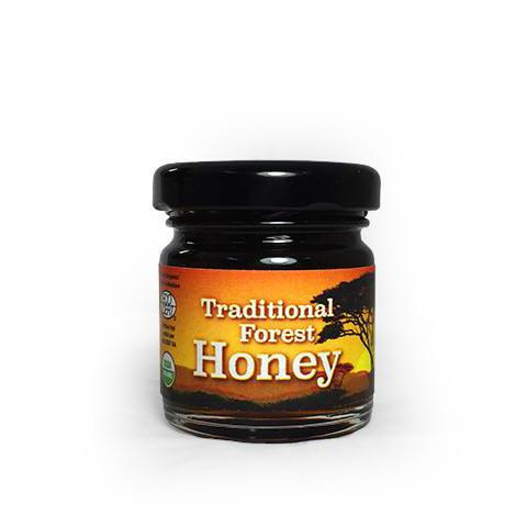 African Bronze Honey Taster. Organic, fair-trade, raw honey from a tropical forest in Zambia.
