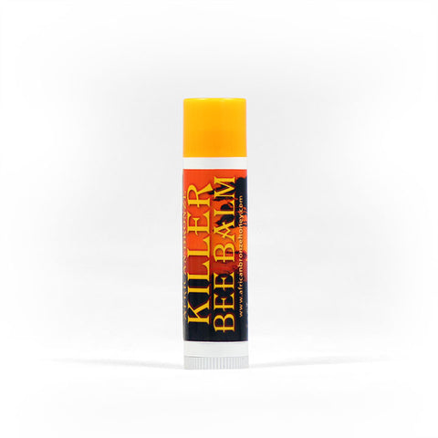 African Bronze Killer Bee Balm. A moisturizing balm made from our organic beeswax, it is fair-trade, raw and wild from a tropical forest in Zambia.