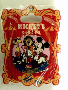 Disney Pin - WDW Mickey's Circus Program Acts Mickey and Cats - Pin# 90525