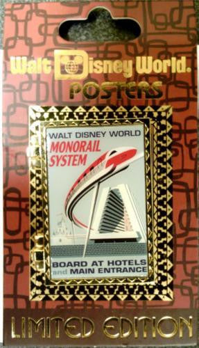 Disney Pin - WDW Attraction Poster - Monorail - Pin# 92984