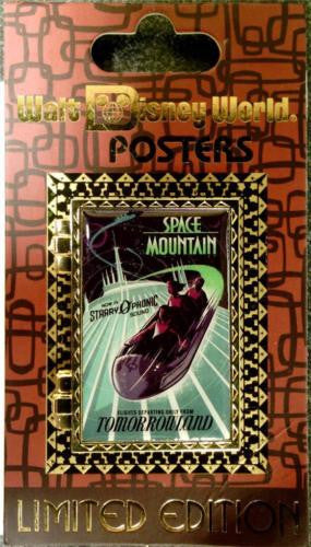 Disney Pin - WDW Attraction Poster - Space Mountain - Pin# 93857
