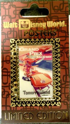 Disney Pin - Attraction Poster Pin - Grand Prix Raceway - Pin# 93390