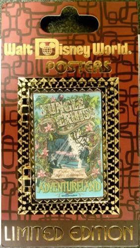 Disney Pin - WDW Attraction Poster - Jungle Cruise - Pin# 90790