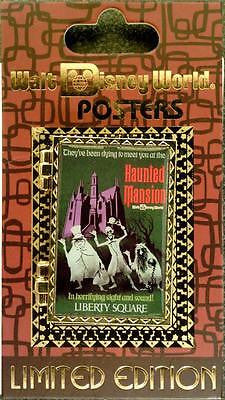 Disney Pin - WDW Attraction Poster - Haunted Mansion - Pin# 92204