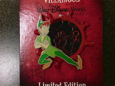 Disney Pin - Valiant & Villainous - Peter Pan - LE1000 - Pin# 93354