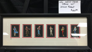 WDI Artist Proof Jessica Rabbit Dressed as Disneyland Cast Member Framed Set