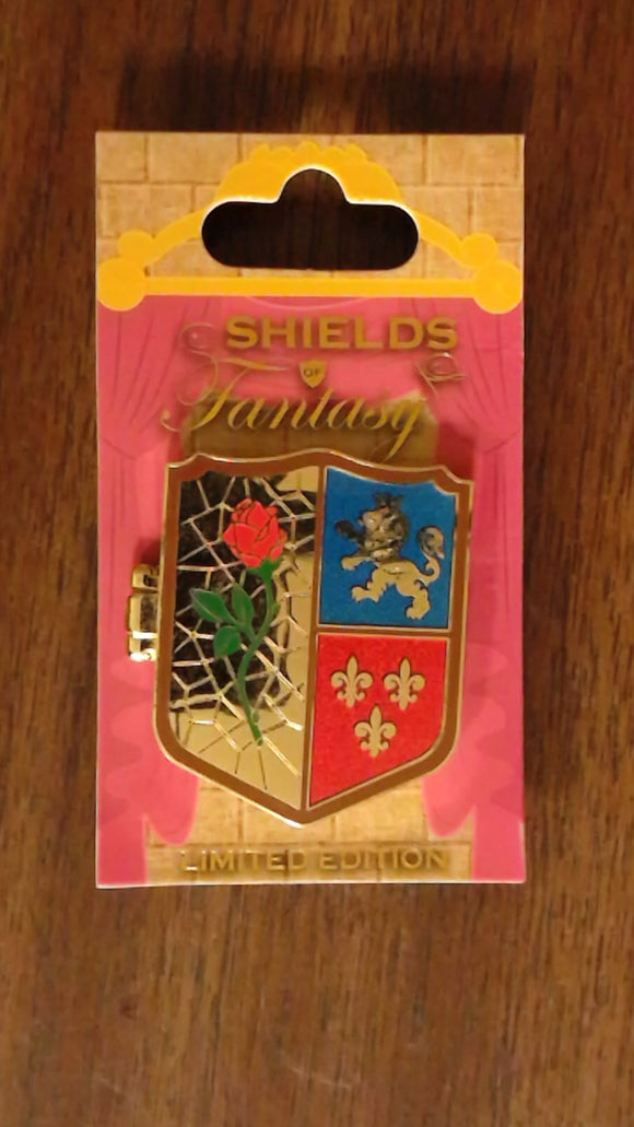 Pin 107316 WDW - Shields of Fantasy - Beauty and the Beast