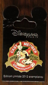 Pin 94010 DLP - Cast Member 20th Anniversary Pin Trading Logo - Christmas Mickey