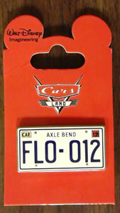 Pin 86379 WDI - Cars Land Mystery Collection - License Plate Flo-012