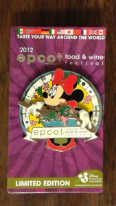 Pin 92630 WDW - Epcot® International Food and Wine Festival 2012 - Disney Vacation Club - Minnie Mouse