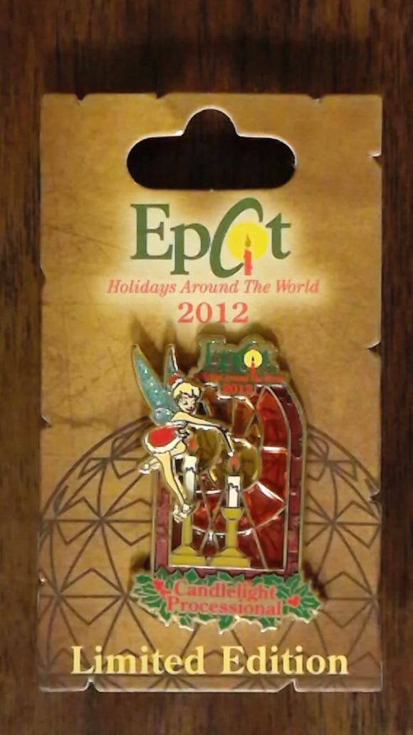 Pin 93460 WDW - 2012 Holidays Around The World - Candlelight Processional - Tinker Bell