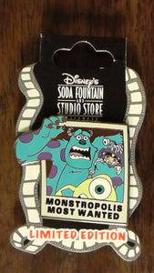 Pin 93588 DSF - Monsters Inc 3D - Monstropolis Most Wanted (Sulley and Mike)
