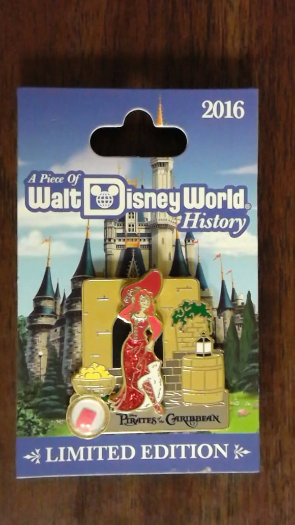 Pin 116286 WDW - Piece of Disney History 2016 - Pirates of the Caribbean – We Want the Redhead