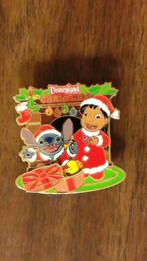 Pin 71697 DLR - Christmas 2008 - Lilo & Stitch (ARTIST PROOF)