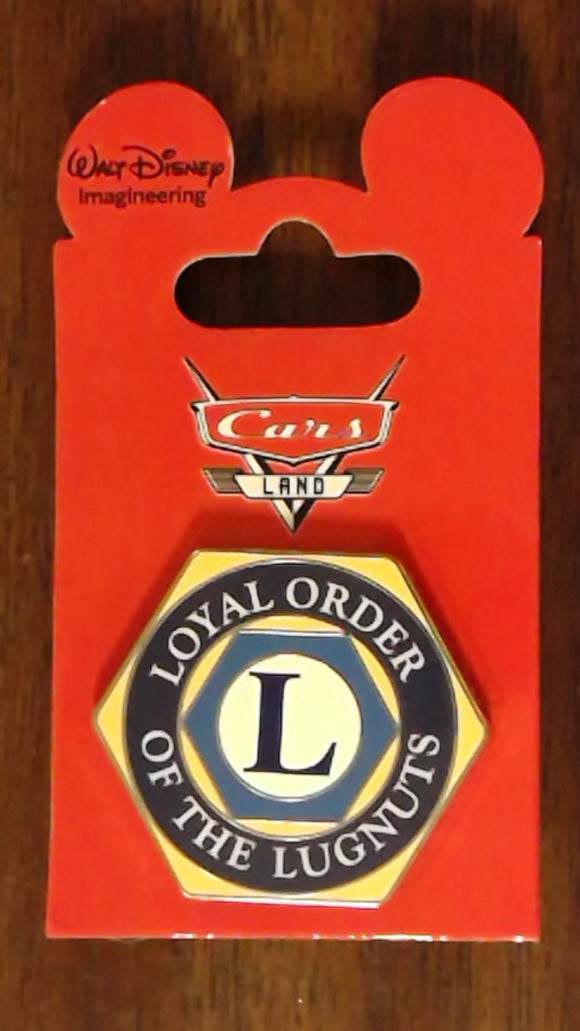 Pin 86380 WDI - Cars Land Mystery Collection - Loyal Order of the Lugnuts