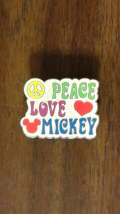 Pin 96003 WDW - 1970's Mickey Mouse and Friends - Mystery Collection - Peace, Love, Mickey Chaser ONLY