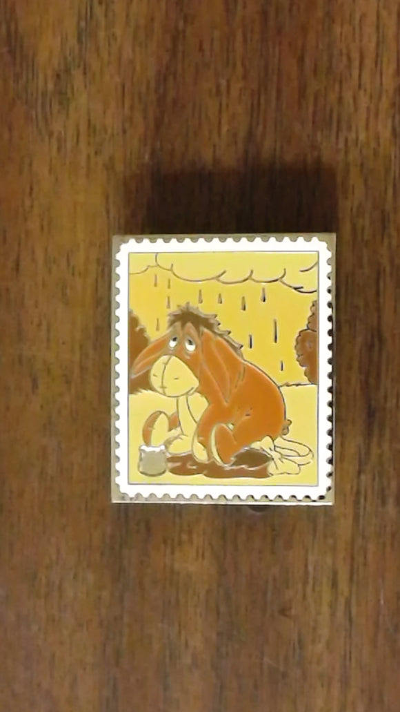 Pin 82759 Pin Trading Stamp Collection - Pooh's Head - Eeyore (CHASER)