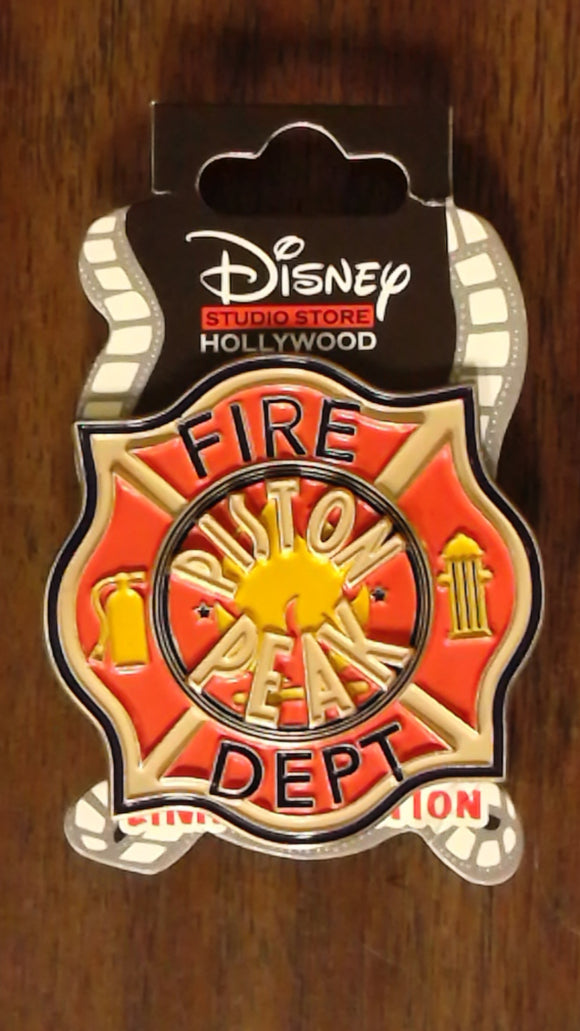 Pin 102387 DSSH - Planes 2 Fire & Rescue - Piston Peak Fire Dept Badge