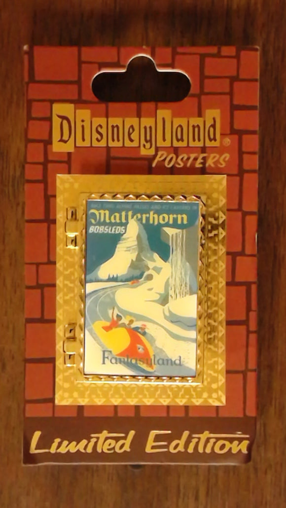 Pin 90430 DLR - Attraction Posters - Matterhorn Bobsleds