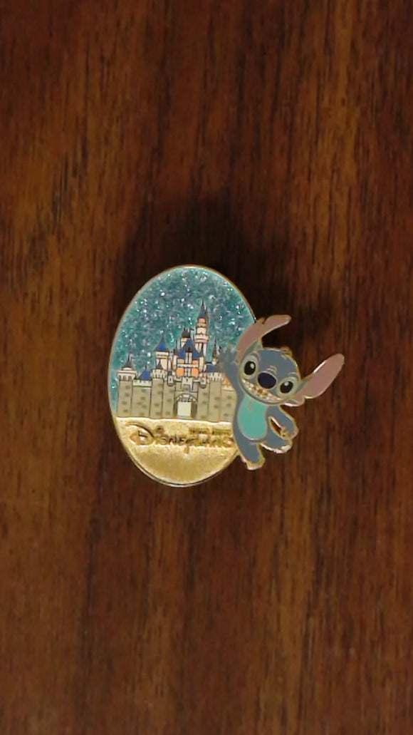 Pin 103496 HKDL - Character & Castle Mystery Tin Collection - Stitch ONLY
