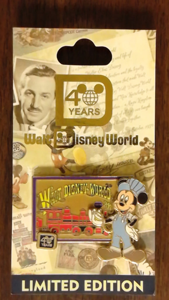 Pin 87812 WDW - 40th Anniversary of Walt Disney World® - Walt Disney World Railroad