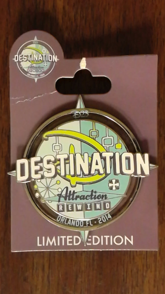 Pin 109063 D23 - Destination D 2014: Attraction Rewind - Logo
