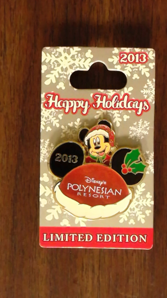 Pin 98912 WDW - Happy Holidays 2013 – Disney's Polynesian Resort