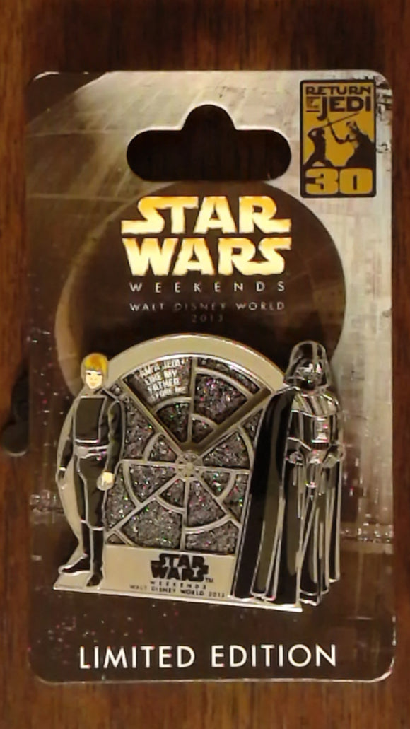 Pin 96522 WDW - Star Wars Weekend 2013 - Luke Skywalker/Darth Vader Spinner