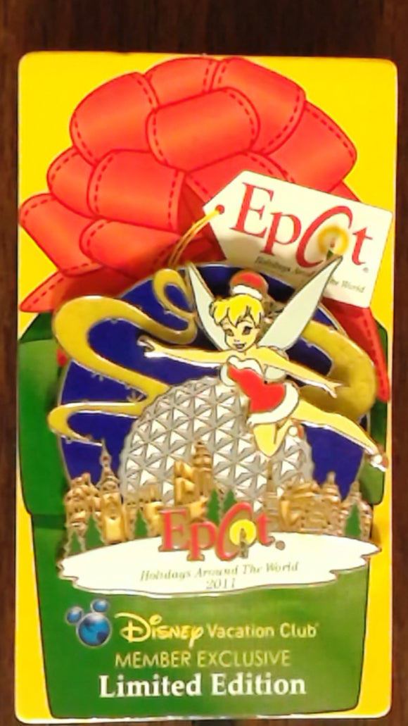 Pin 87863 WDW - Epcot® Holidays Around the World 2011 - Disney Vacation Club - Tinker Bell