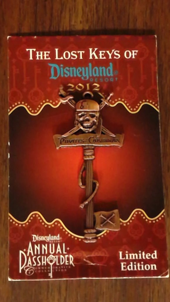 Pin 90958 DLR - Annual Passholder - Unlock the Magic of Disneyland® Resort - Pirates of the Caribbean