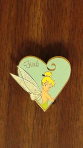 Pin 25399 Disney Auctions (P.I.N.S.) - Tinker Bell Pouting in Turquoise Heart