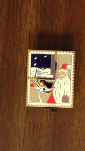 Pin 82786 Pin Trading Stamp Collection - NBC Present - Sandy Claws