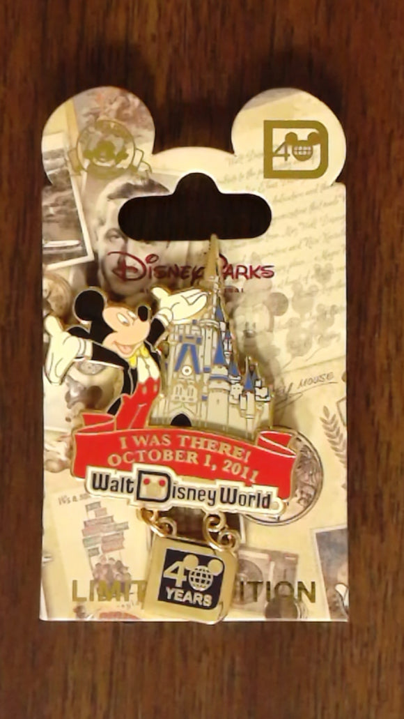 Pin 87022 WDW - 40th Anniversary of Walt Disney World® - I Was There!
