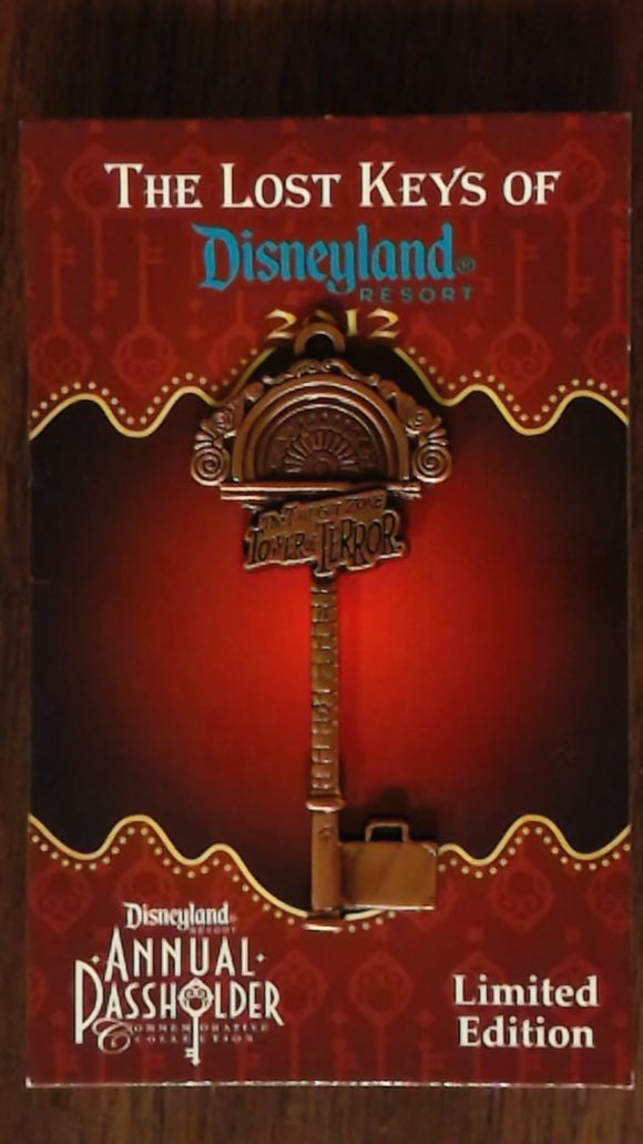 Pin 91978 DLR - Annual Passholder - Unlock The Magic Of Disneyland Resort Collection – Twilight Zone Tower of Terror Key