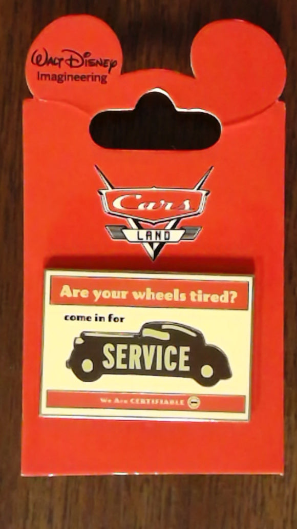 Pin 88317 WDI - Cars Land Mystery Collection - Come In For Service Sign