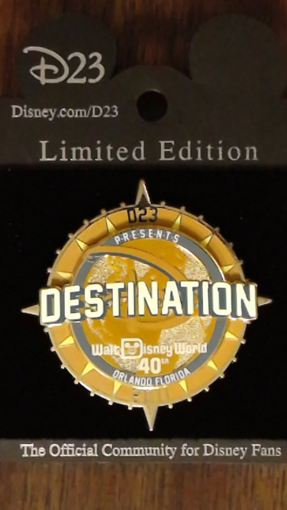 Pin 84383 D23's Destination D: WDW 40th- Logo