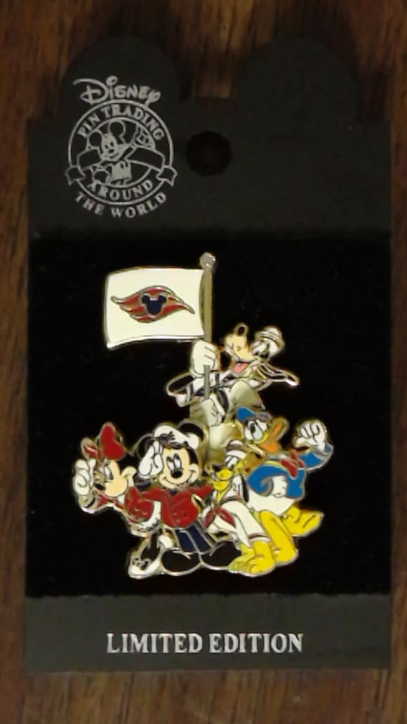 Pin 17550 DCL Rescue Captain Mickey Pin Event - FAB 5 w/Flag (3D/Movement)