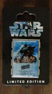 Pin 79294 Star Wars Celebration 5 Event - Empire Strikes Back Poster - Darth Vader and Cast