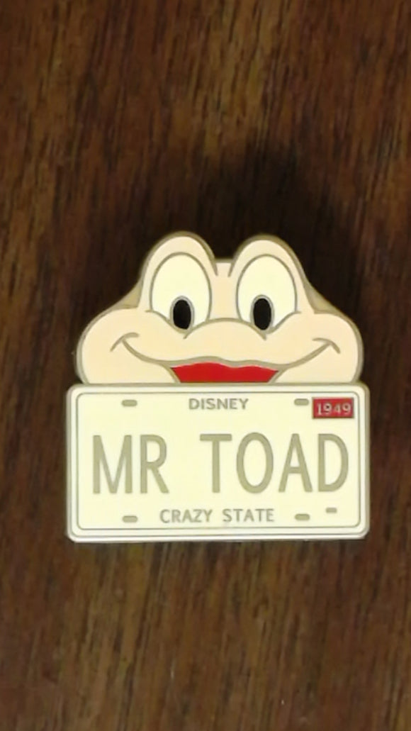 Pin 77283 Character License Plate - Mystery Series - Mr. Toad