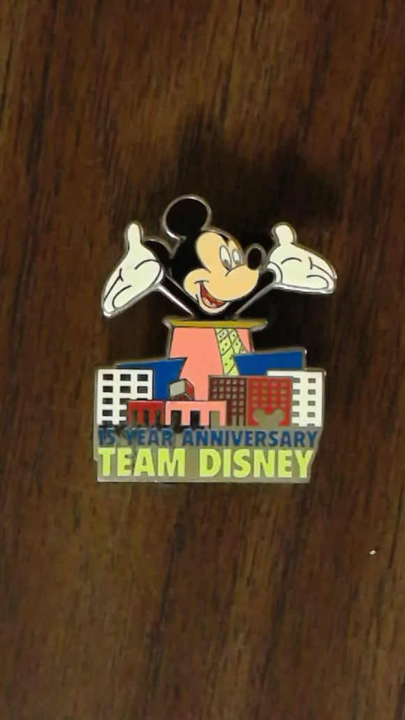 Pin 46781 WDW - 15 Year Anniversary Team Disney
