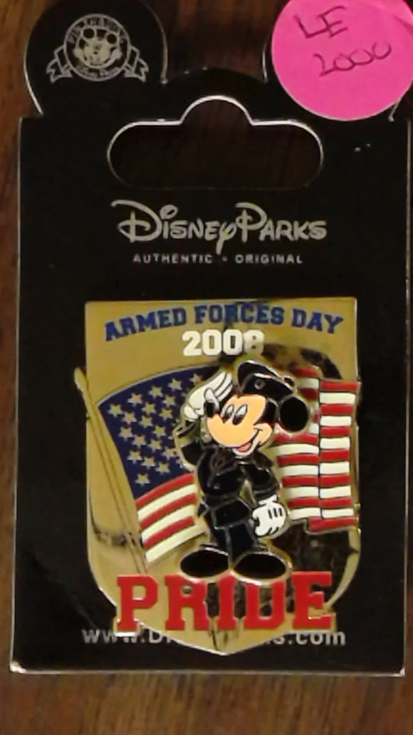 Pin 61228 WDW - Armed Forces Day 2008 - Mickey Salutes