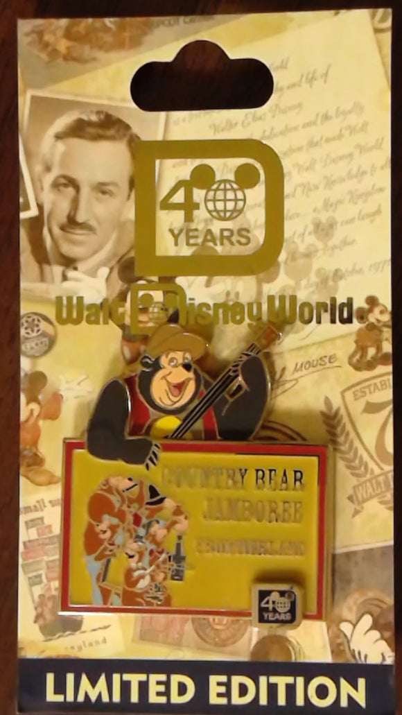 Pin 85390 WDW - 40th Anniversary of Walt Disney World® - Country Bear Jamboree
