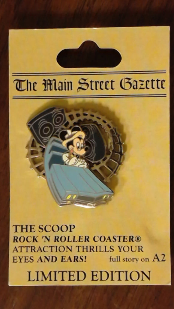 Pin 62527 WDW - The Scoop! - Rock 'n Roller Coaster® Starring Aerosmith