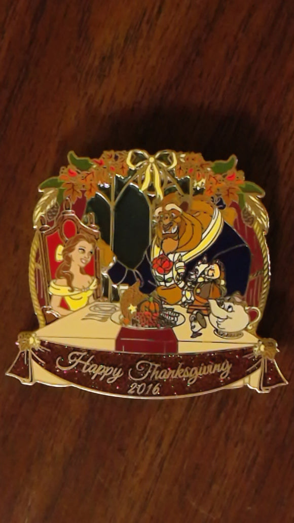Pin 118982 WDI - Beauty and the Beast - Thanksgiving 2016