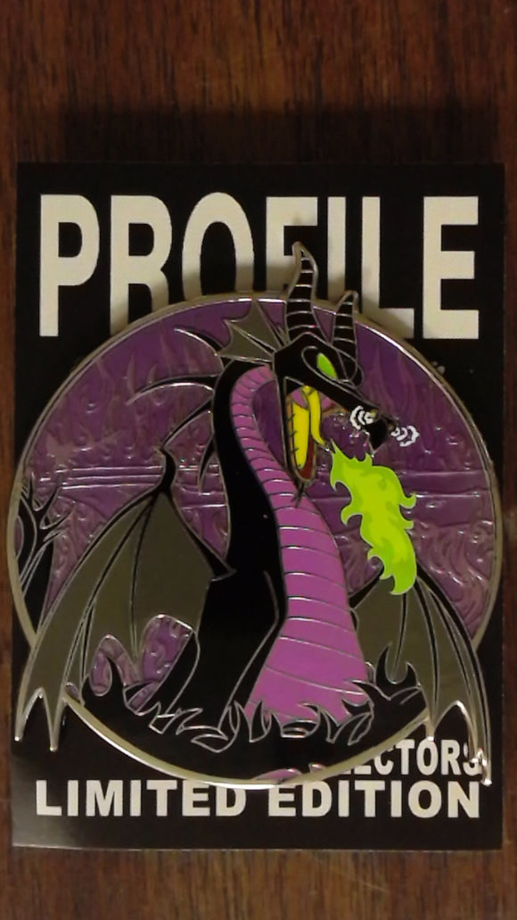 Maleficent Fantasy Profile Pin Purple Variant